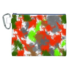 Abstract Watercolor Background Wallpaper Of Splashes  Red Hues Canvas Cosmetic Bag (xxl)
