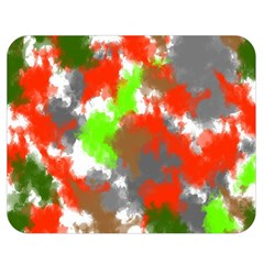 Abstract Watercolor Background Wallpaper Of Splashes  Red Hues Double Sided Flano Blanket (Medium)