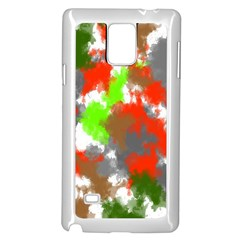 Abstract Watercolor Background Wallpaper Of Splashes  Red Hues Samsung Galaxy Note 4 Case (White)