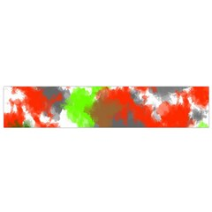 Abstract Watercolor Background Wallpaper Of Splashes  Red Hues Flano Scarf (Small)
