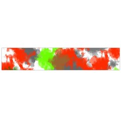 Abstract Watercolor Background Wallpaper Of Splashes  Red Hues Flano Scarf (Large)
