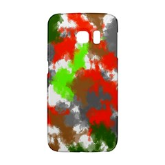 Abstract Watercolor Background Wallpaper Of Splashes  Red Hues Galaxy S6 Edge