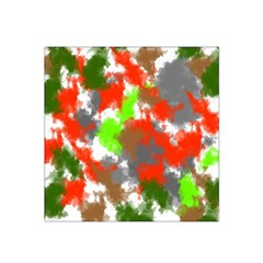 Abstract Watercolor Background Wallpaper Of Splashes  Red Hues Satin Bandana Scarf