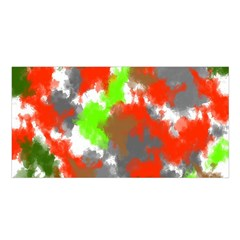Abstract Watercolor Background Wallpaper Of Splashes  Red Hues Satin Shawl