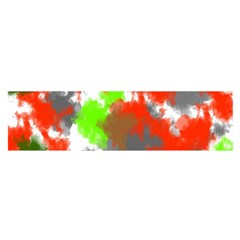 Abstract Watercolor Background Wallpaper Of Splashes  Red Hues Satin Scarf (oblong)