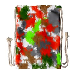 Abstract Watercolor Background Wallpaper Of Splashes  Red Hues Drawstring Bag (Large)
