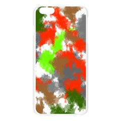 Abstract Watercolor Background Wallpaper Of Splashes  Red Hues Apple Seamless iPhone 6 Plus/6S Plus Case (Transparent)