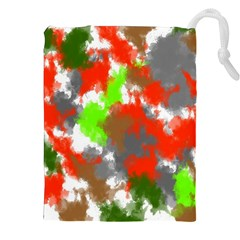 Abstract Watercolor Background Wallpaper Of Splashes  Red Hues Drawstring Pouches (xxl)