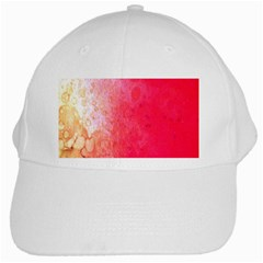 Abstract Red And Gold Ink Blot Gradient White Cap