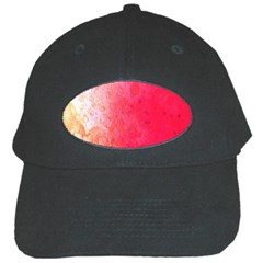 Abstract Red And Gold Ink Blot Gradient Black Cap