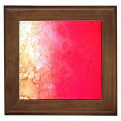Abstract Red And Gold Ink Blot Gradient Framed Tiles