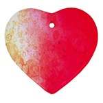 Abstract Red And Gold Ink Blot Gradient Ornament (Heart) Front