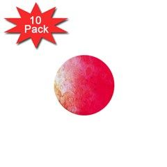 Abstract Red And Gold Ink Blot Gradient 1  Mini Buttons (10 pack)