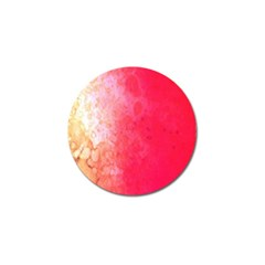 Abstract Red And Gold Ink Blot Gradient Golf Ball Marker (10 pack)