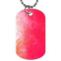Abstract Red And Gold Ink Blot Gradient Dog Tag (Two Sides)