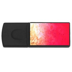 Abstract Red And Gold Ink Blot Gradient USB Flash Drive Rectangular (1 GB)