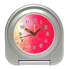 Abstract Red And Gold Ink Blot Gradient Travel Alarm Clocks