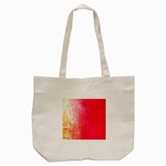 Abstract Red And Gold Ink Blot Gradient Tote Bag (cream)