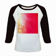 Abstract Red And Gold Ink Blot Gradient Kids Baseball Jerseys