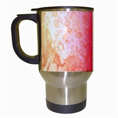 Abstract Red And Gold Ink Blot Gradient Travel Mugs (white)