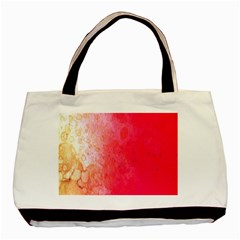 Abstract Red And Gold Ink Blot Gradient Basic Tote Bag