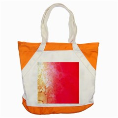 Abstract Red And Gold Ink Blot Gradient Accent Tote Bag
