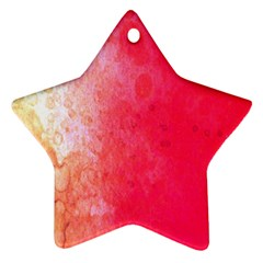 Abstract Red And Gold Ink Blot Gradient Star Ornament (Two Sides)