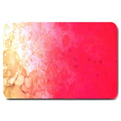 Abstract Red And Gold Ink Blot Gradient Large Doormat