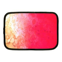 Abstract Red And Gold Ink Blot Gradient Netbook Case (Medium)