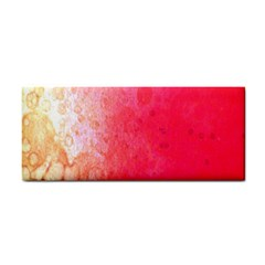 Abstract Red And Gold Ink Blot Gradient Cosmetic Storage Cases