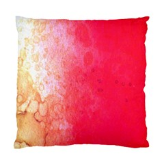 Abstract Red And Gold Ink Blot Gradient Standard Cushion Case (One Side)