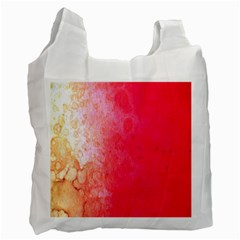 Abstract Red And Gold Ink Blot Gradient Recycle Bag (One Side)