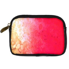 Abstract Red And Gold Ink Blot Gradient Digital Camera Cases