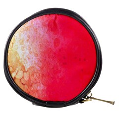 Abstract Red And Gold Ink Blot Gradient Mini Makeup Bags