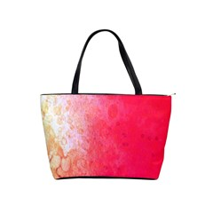 Abstract Red And Gold Ink Blot Gradient Shoulder Handbags