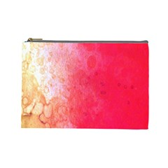 Abstract Red And Gold Ink Blot Gradient Cosmetic Bag (Large)