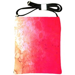 Abstract Red And Gold Ink Blot Gradient Shoulder Sling Bags