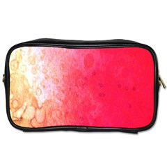Abstract Red And Gold Ink Blot Gradient Toiletries Bags