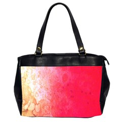 Abstract Red And Gold Ink Blot Gradient Office Handbags (2 Sides)