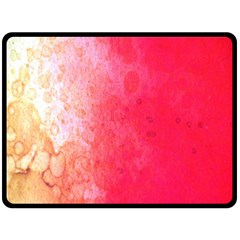 Abstract Red And Gold Ink Blot Gradient Fleece Blanket (Large)