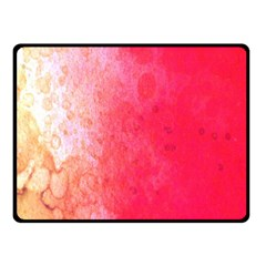 Abstract Red And Gold Ink Blot Gradient Fleece Blanket (Small)