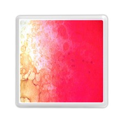 Abstract Red And Gold Ink Blot Gradient Memory Card Reader (Square)