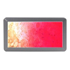 Abstract Red And Gold Ink Blot Gradient Memory Card Reader (Mini)