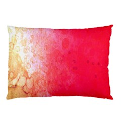 Abstract Red And Gold Ink Blot Gradient Pillow Case (Two Sides)