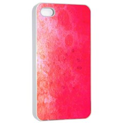 Abstract Red And Gold Ink Blot Gradient Apple Iphone 4/4s Seamless Case (white)