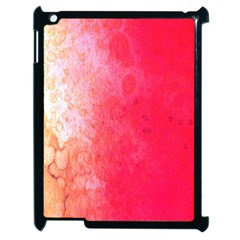 Abstract Red And Gold Ink Blot Gradient Apple iPad 2 Case (Black)