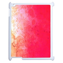 Abstract Red And Gold Ink Blot Gradient Apple iPad 2 Case (White)