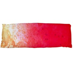 Abstract Red And Gold Ink Blot Gradient Body Pillow Case (Dakimakura)