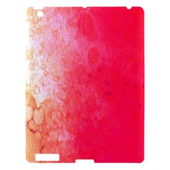 Abstract Red And Gold Ink Blot Gradient Apple Ipad 3/4 Hardshell Case
