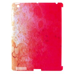 Abstract Red And Gold Ink Blot Gradient Apple iPad 3/4 Hardshell Case (Compatible with Smart Cover)